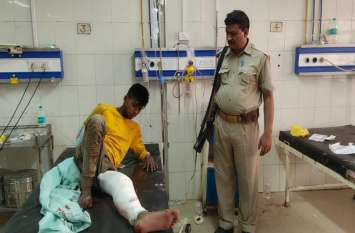 पुलिस मुठभेड़ में गिरफ्तार हुआ सुपारी किलर ,यूपी पुलिस को बड़ी कामयाबी