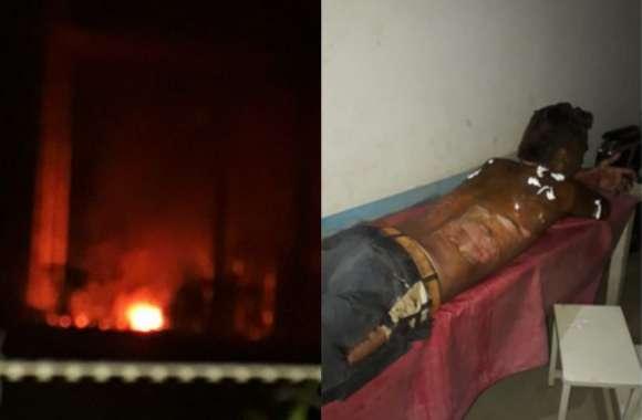 दहशत के पल: तेज धमाके के साथ आग के शोलों में बदल गया सबस्टेशन,  चार कर्मचारी गंभीर रूप से झुलसे, इस वजह से हुआ हादसा