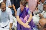 प्रियंका गांधी को सोनभद्र जाने से रोका, CG में कांग्रेसियों ने खोला मोर्चा, यूपी CM का फूंका पुतला , Video