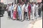 कांग्रेसी कार्यकर्ताओं ने गिरफ्तारियां दी