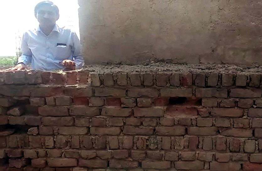 Bharatpur news:  बैंक के स्टोर में घुसने का प्रयास, टूटी मिली ईंटें