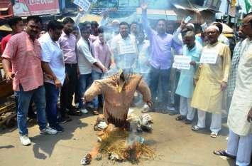 Kanpur Political News आखिरकार कांग्रेसियों ने सीएम योगी का फूंक ही दिया पुतला