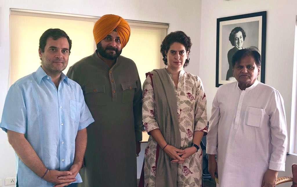 Sidhu with Rahul Gandhi