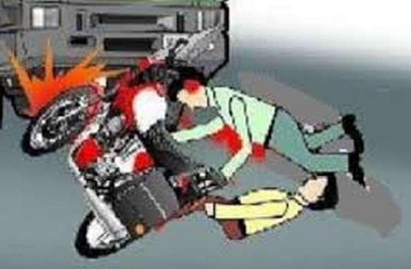 डंपर से भिड़ी बाइक, इंदौर के दो युवकों की मौत