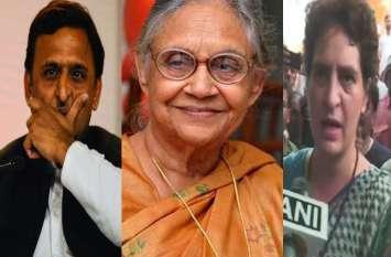 शीला दीक्षित के निधन पर प्रियंका गांधी भावुक, अखिलेश, सीएम योगी ने भी जताया दुख, जारी किया बयान
