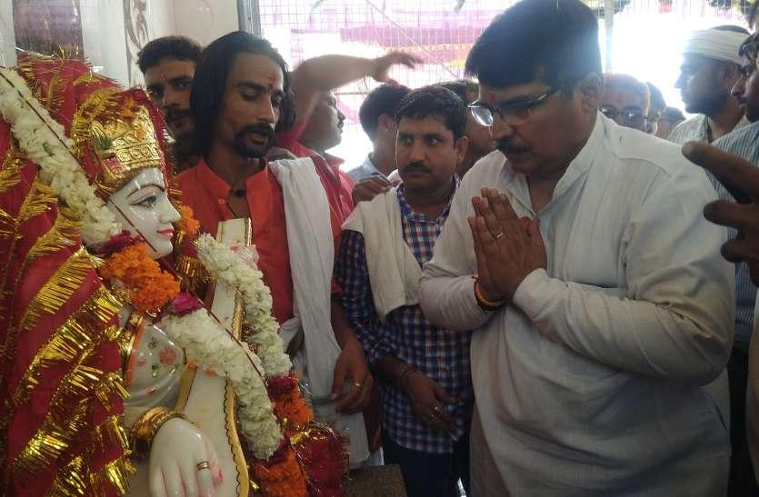 Jaipur rural : विद्यालय में सरस्वती मूर्ति की प्राण- प्रतिष्ठा की गई