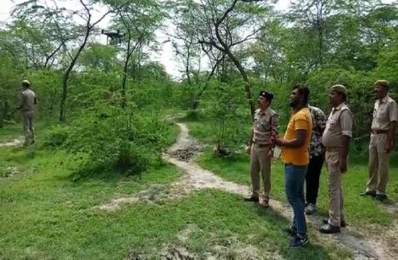 संभल सिपाही हत्याकांड: पुलिस बाकि बचे दो बदमाशों की पकड़ के लिए कर रही  ड्रोन का इस्तेमाल