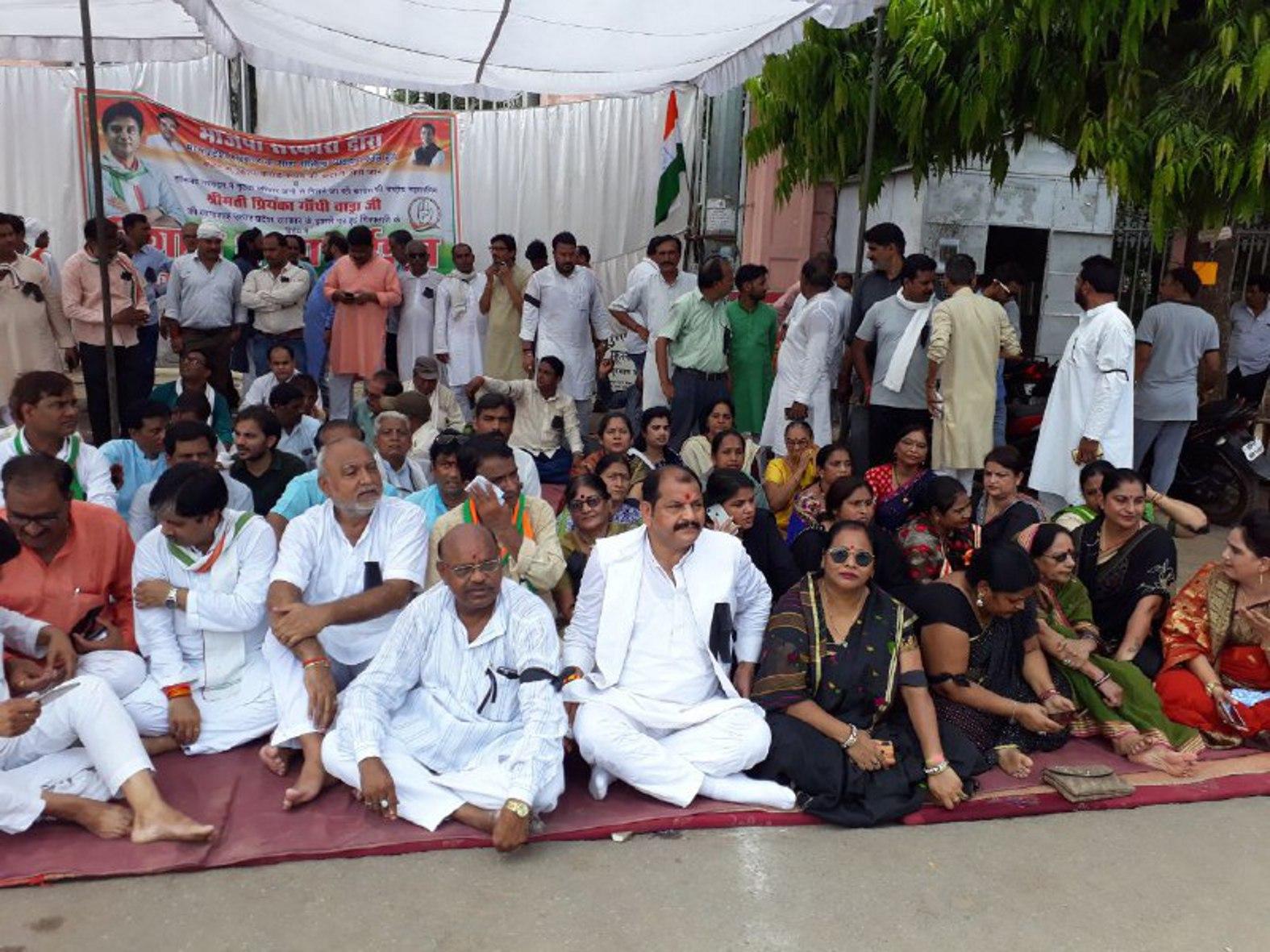कांग्रेस की चेतावनी- भाजपा को भारी पड़ेगी प्रियंका की गिरफ्तारी