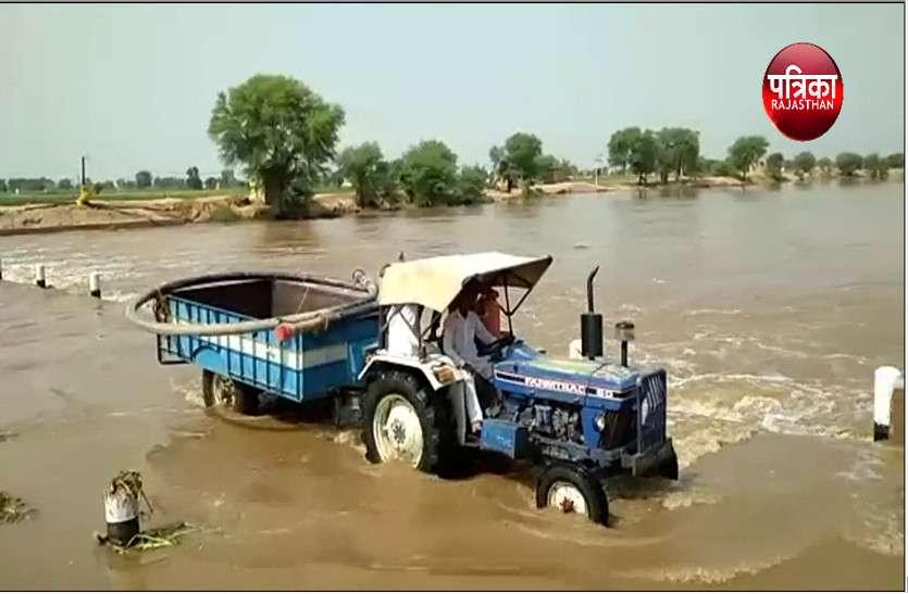 घग्घर नदी में आया पानी, किसानों के लिए साबित होगा वरदान