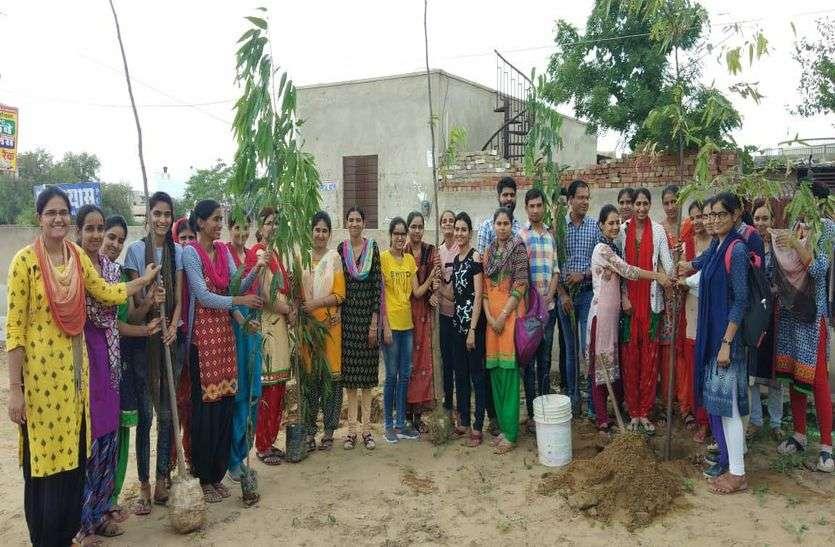 हरियाळो राजस्थान: पौधे लगाकर पोषण का लिया संकल्प, दिया पर्यावरण बचाने का संदेश