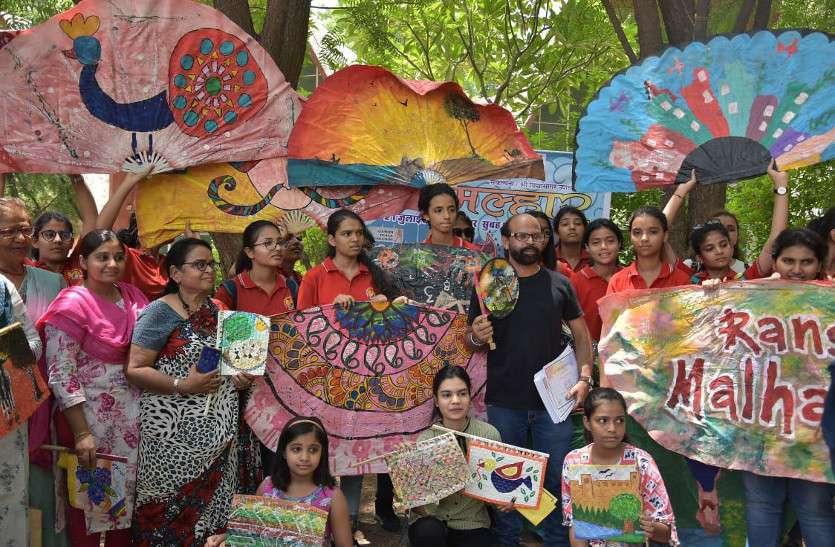 रंग मल्हार में हर पेन्टिंग -हर रंग ने कहा, बारिश कर दो, जोधपुर में 105 पेन्टर्स ने रंगी पंखी