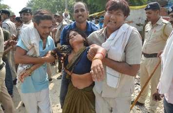 रेत से भरे ट्रैक्टर-ट्रॉली ने भाई-बहन को मारी टक्कर, मौके पर बहन ने तोड़ा दम, see video