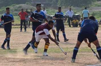 पुलिस खेल हॉकी के फाइनल में धौलपुर ने  कैसे हराया भरतपुर को ...देखें तस्वीरें