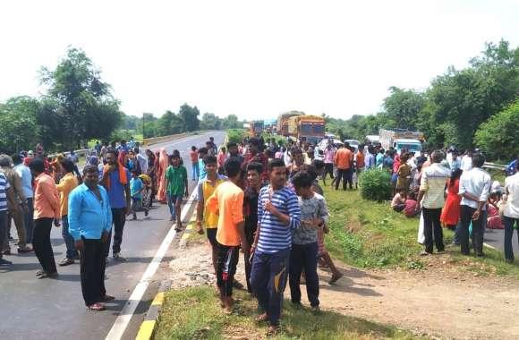 हैदरवास के ग्रामीणों ने फोरलेन बायपास पर लगाया जाम