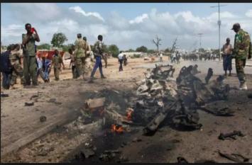 सोमालिया: हवाई अड्डे के पास आत्मघाती हमला, पांच पुलिसकर्मी समेत 11 लोगों की मौत