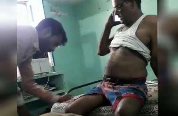 छेड़खानी के आरोपी से दरोगा ने वसूले 60000 रुपए तो एसपी हुए सख्त, किया लाइन हाजिर, देखें वीडियो