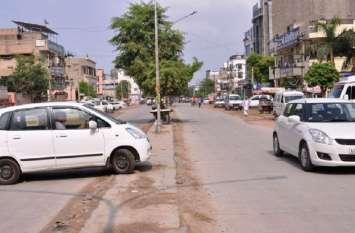 श्रीगंगानगर में दस माह बाद भी डिवाइडर  का निर्माण नहीं