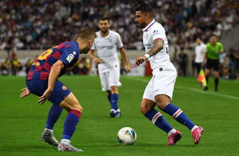 फुटबॉलः चेल्सी ने एफसी बार्सिलोना को 2-1 से हराया