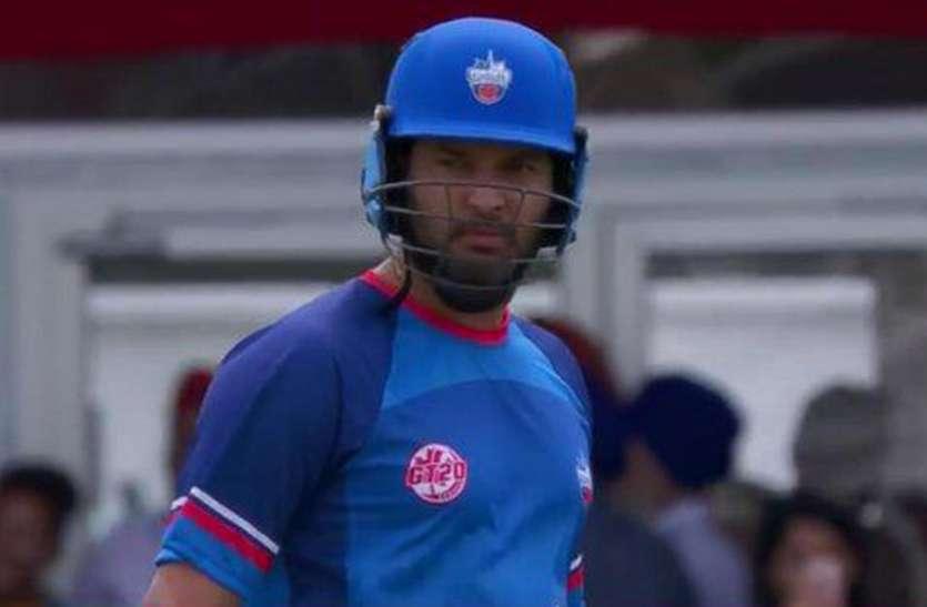 ग्लोबल टी-20 कनाडा में भी युवराज सिंह की नाकामी जारी, पहले मैच में रहे फ्लॉप