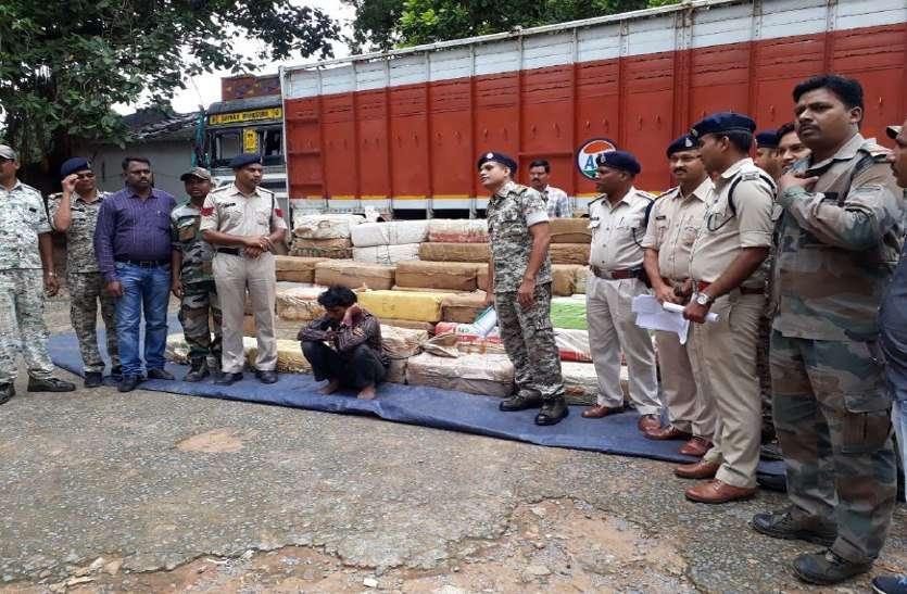 ट्रक में स्पेशल चेंबर बना 1700 किलो गांजा एमपी ले जाने फिराक में थे अंर्तराज्यीय गिरोह के आरोपी, पुलिस ने दबोचा