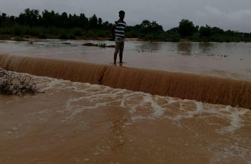Jaipur rural : बारिश ने मन मोहा, जैतपुर खींची की नदी में आया पानी