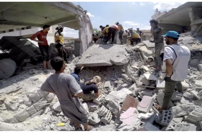 बीते 10 दिनों में सीरिया हवाई हमले में 100 से अधिक नागिरकों की मौत : UN