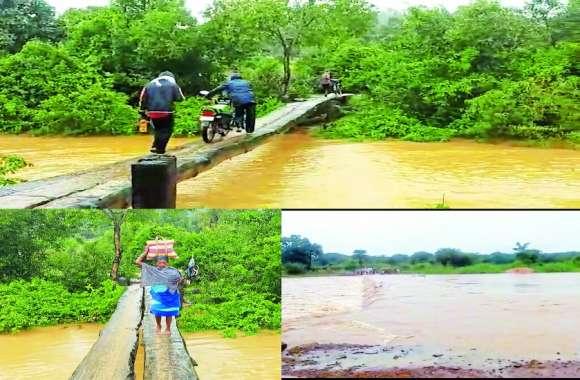जान हथेली पर रख बाढ़ से बचने ग्रामीण ऐसे लगा रहे नय्या पार