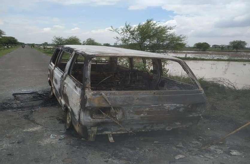 Fire in school van