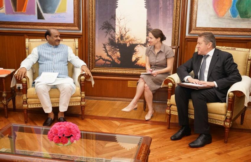 लोकसभा स्पीकर ओम बिरला से रूसी राजदूत निकोलाय ने की मुलाकात, रूस-भारत संबंधों पर की चर्चा