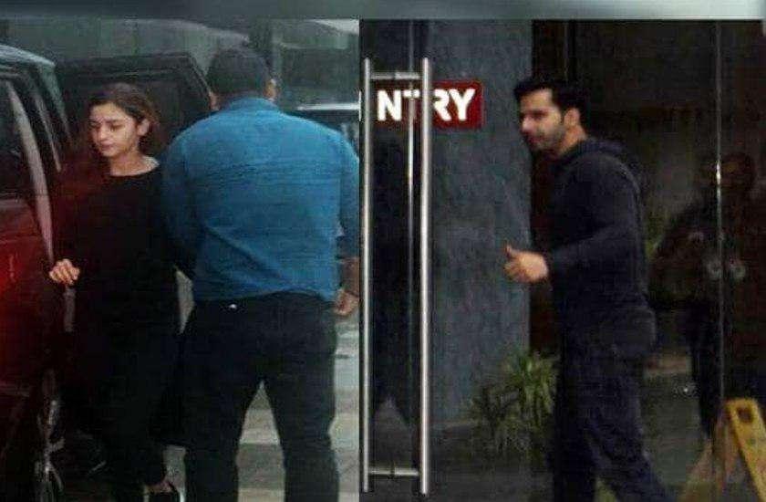 alia bhatt and varun dhawan spotted outside karan johar house