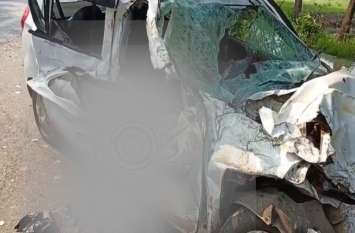 दर्दनाक हादसा: श्रद्धालुओं से भरी कार की बस से हुई भीषण टक्कर, चार की मौत, मचा हड़कंप