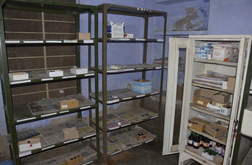 Bharatpur news ...पशुओं को दवा नहीं तो कैसे हो उपचार