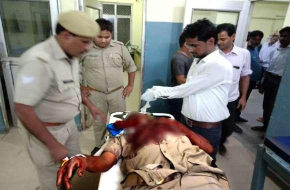 प्रतापगढ़ में बदमाशों ने चौकी के नजदीक सिपाही को गोली मारी, इलाहाबाद रेफर