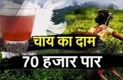 70 हजार के पार हुई चाय की कीमत