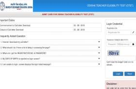 OTET Admit Card 2019 जारी, परीक्षा 5 अगस्त को होगी आयोजित