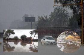 राजस्थान के कई जिलों में तेज मूसलाधार बारिश, सड़क बनी नदी, स्कूल-घरों में घुसा पानी