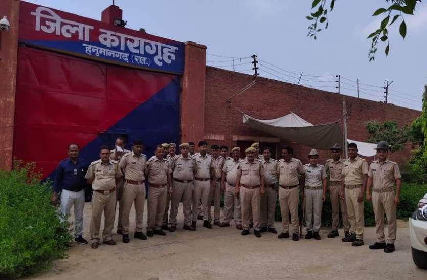 दो दर्जन पुलिस व आरएसी जवानों ने खंगाली जेल, मिला सिर्फ एक मोबाइल फोन