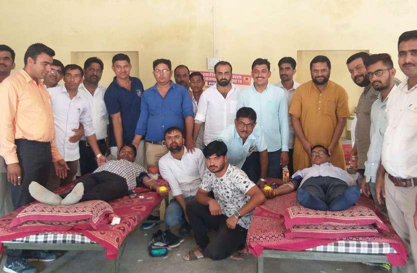 पालीवाल सजगता सप्ताह में किया रक्तदान, 101 यूनिट रक्त संग्रह