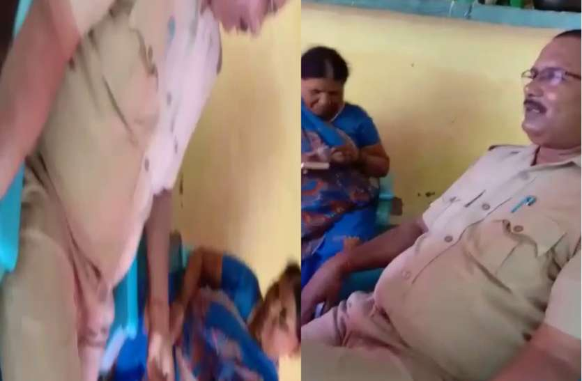 गांजा बेचने वाली महिला से पुलिसकर्मी कर रहे वसूली, वीडियो वायरल होने के बाद भी नहीं हुई कार्रवाई