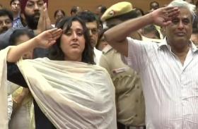 सुषमा स्वराज को नम आंखों से पति और बेटी का आखिरी सलाम