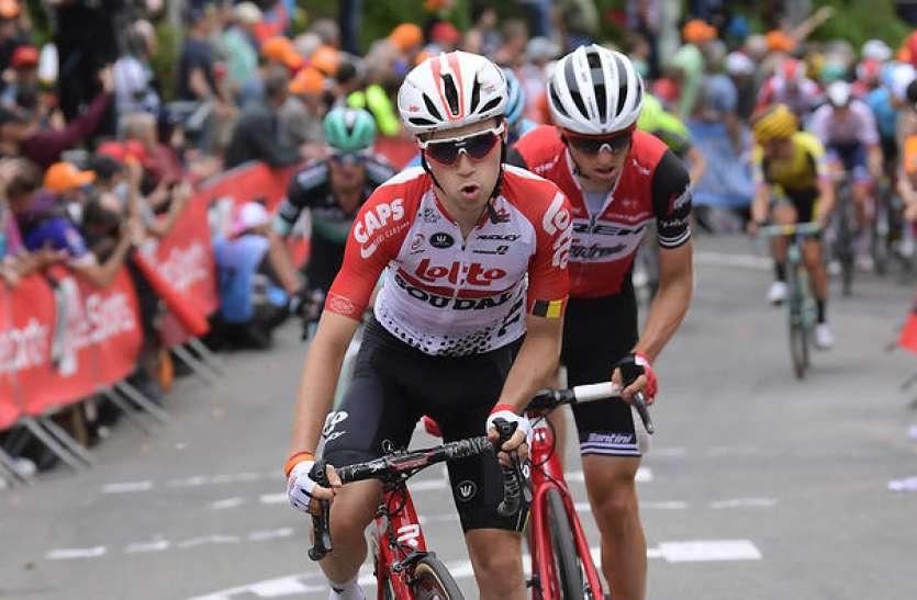 बेल्जियम के साइकिलिस्ट ब्योर्ग लैंबरेच्ट की रेसिंग के दौरान हादसे में मौत
