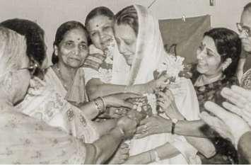 पूर्व CM की मां विजयाराजे सिंधिया से था Sushma Swaraj का गहरा लगाव, राजे ने व्यक्त किया गहरा शोक