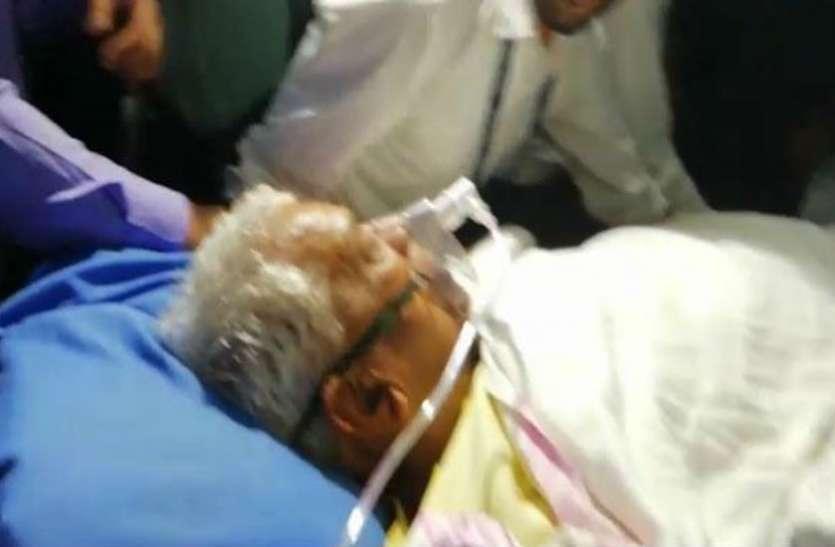 वेंटिलेटर पर पर पूर्व सीएम, हालत गंभीर, अस्पताल पहुंचे भाजपा नेता, शिवराज ने कहा- मन दुखी है