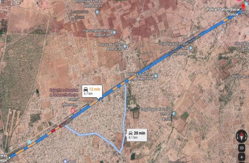 बनाड़ रोड का भार कम करने के लिए बनेगी वैकल्पिक फोरलेन सडक़, 1 करोड़ की राशि निर्धारित