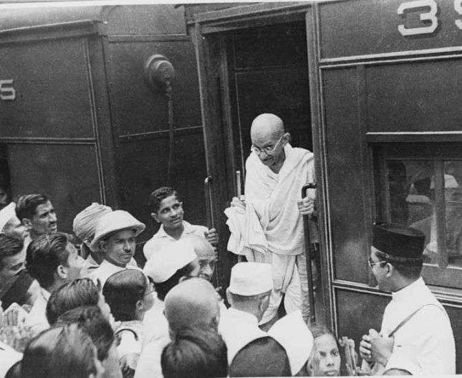 arrival of mahatma gandhi