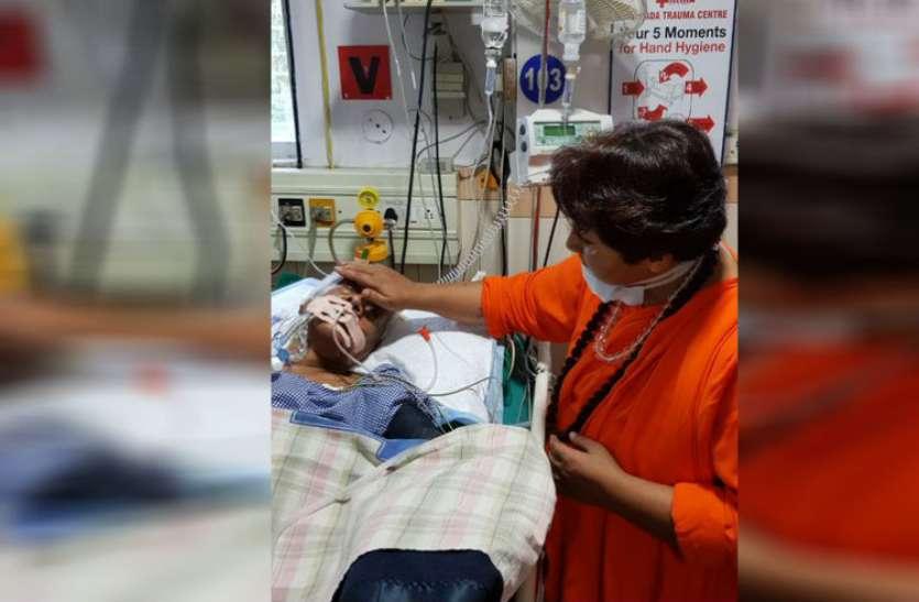 भाजपा के कद्दावर नेता और पूर्व सीएम की हालत गंभीर, देखने के लिए अस्पताल पहुंचीं सांसद प्रज्ञा ठाकुर