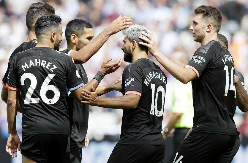 प्रीमियर लीग : चैम्पियन सिटी ने जीता पहला मैच