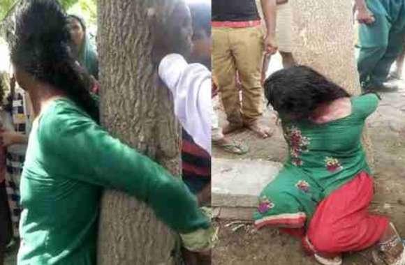 महिला को पेड़ से बांधकर लोगों ने मिलकर पीटा, पूरी कहानी जानकर रह जाएंगे हैरान