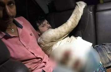 यूपी के चंदौली में व्यवसायी को मारी गोली, कार लूटकर फरार हुए बदमाश