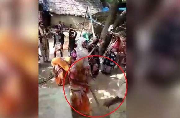 #PatrikaCrime अवैध वसूली करने गए दरोगा को महिलाओं ने दौड़ा दौड़ाकर पीटा